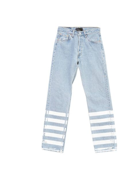 "<p>The classic 501's have been given a Lulu & Co makeover with hand-screen printed stripes. We want... Lulu & Co 501 stripe jeans, £200, at <a href=""http://www.3939shop.com/products/lulu-co-stripe-denim"">3939 Shop</a></p>"
