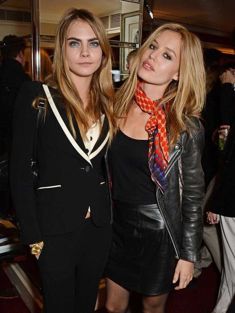 <p>Cara Delevingne and Georgia May Jagger at the launch of LOVE special editions, London Fashion Week.</p>