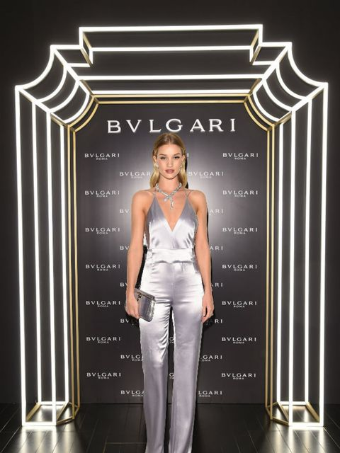 <p>Rosie Huntington-Whiteley at the Bvlgari dinner and party.</p>