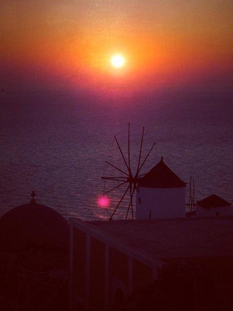 <p>'Sun sets on Mykonos'</p>