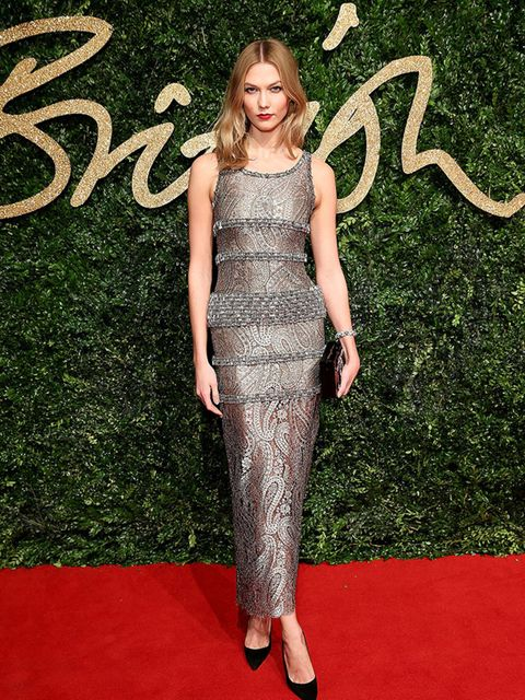 Karlie Kloss attends the British Fashion Awards in London, November 2015.