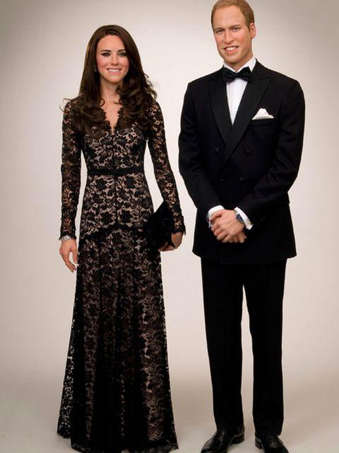 <p>The Duke and Duchess of Cambridge at Madame Tussauds Amsterdam</p>