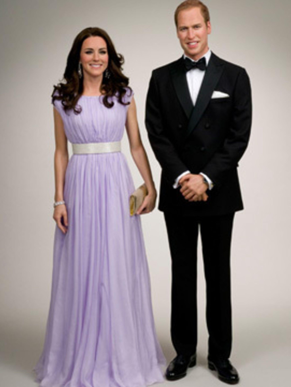 <p>Madame Tussauds' New York Duchess wears Alexander McQueen</p>