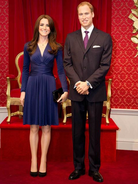 <p>An uncanny resemblance: the Duke and Duchess of Cambridge at Madame Tussauds London</p>