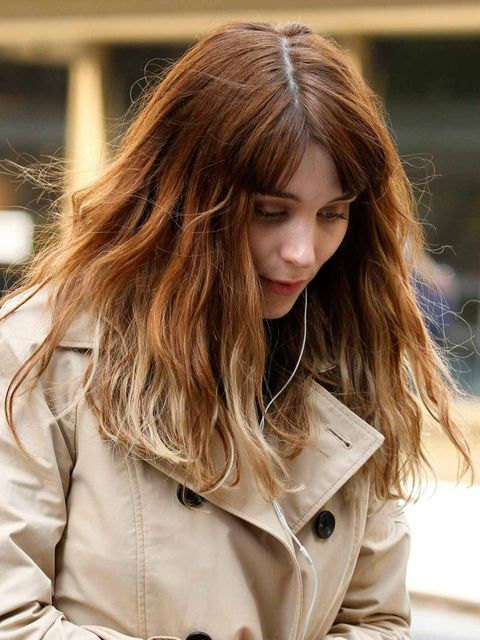 <p>Rooney Mara with hair extensions</p>