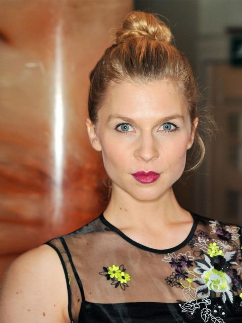 "<p>We're rather taken with <a href=""http://www.elleuk.com/star-style/red-carpet/british-fashion-awards-the-winners-burberry-prada-j-w-anderson-simone-rocha-kate-moss"">Clemence's</a> beetroot-hued lip and easy bun.</p>"