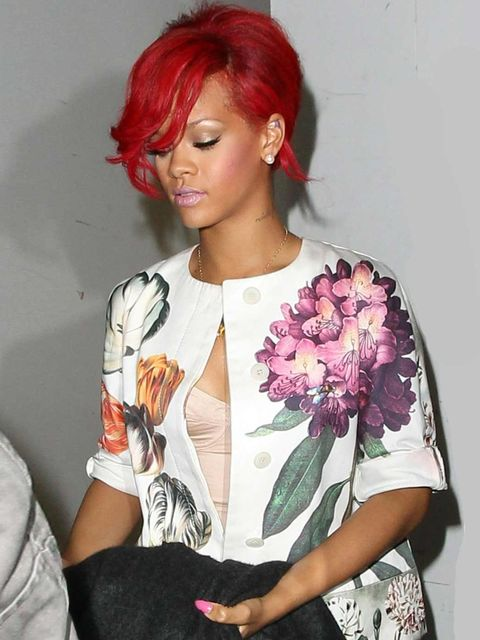 <p>Rihanna wearing a Stella McCartney jacket.</p>
