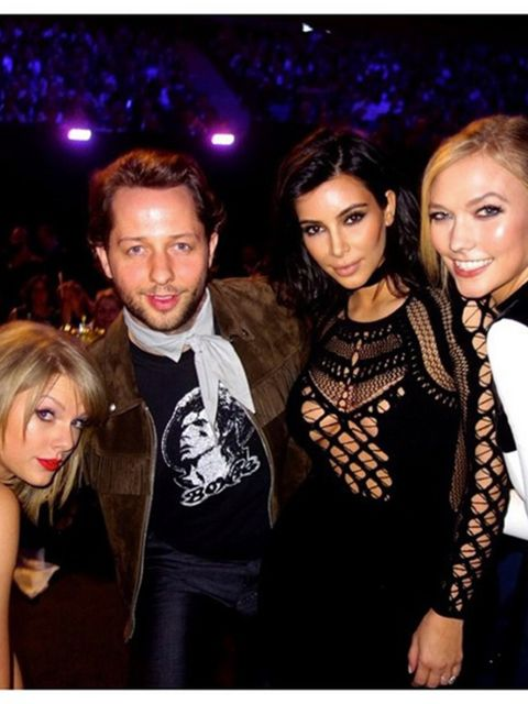 <p>Kim Kardashian West (@kimkardashian)</p>  <p>'K' and Tay and Bae'</p>