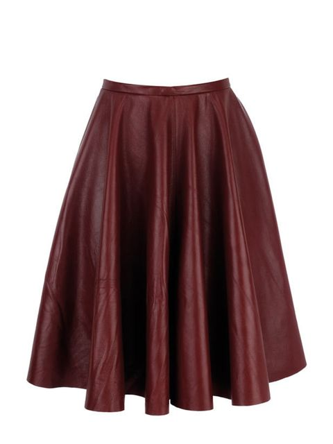 <p>Principles by Ben de Lisi leather skirt, £175, at Debenhams, for stockists call 0844 561 6161</p>