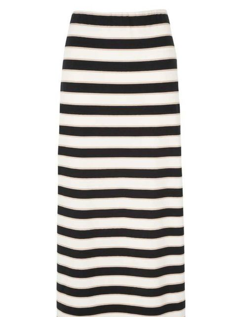 <p>Principles by Ben de Lisi stripe maxi skirt, £22, at Debenhams, for stockists call 0844 561 6161</p>