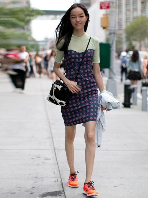 """<p>Model off duty at New York Fashion Week, Spring / Summer 2014.</p><p><em><a href=""""http://www.elleuk.com/star-style/red-carpet/new-york-fashion-week-spring-summer-2014-celebrities-sitting-front-row"""">Stars sitting front row at NYFW</a></em></p><p><em><a"""