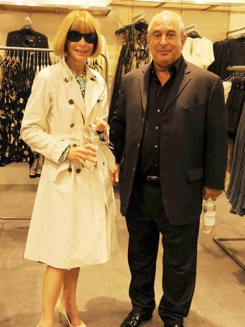 <p>Anna Wintour and Philip Green</p>