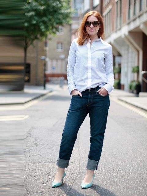 "<p>Natasha Pearlman - Deputy Editor:<a href=""www.elleuk.com/catwalk/designer-a-z/celine/autumn-winter-2013"">Celine</a> shirt, Levi's 501 jeans at <a href=""http://www.selfridges.com/"">Selfridges</a>, Zara shoes and <a href=""http://www.elleuk.com/catwalk/de"