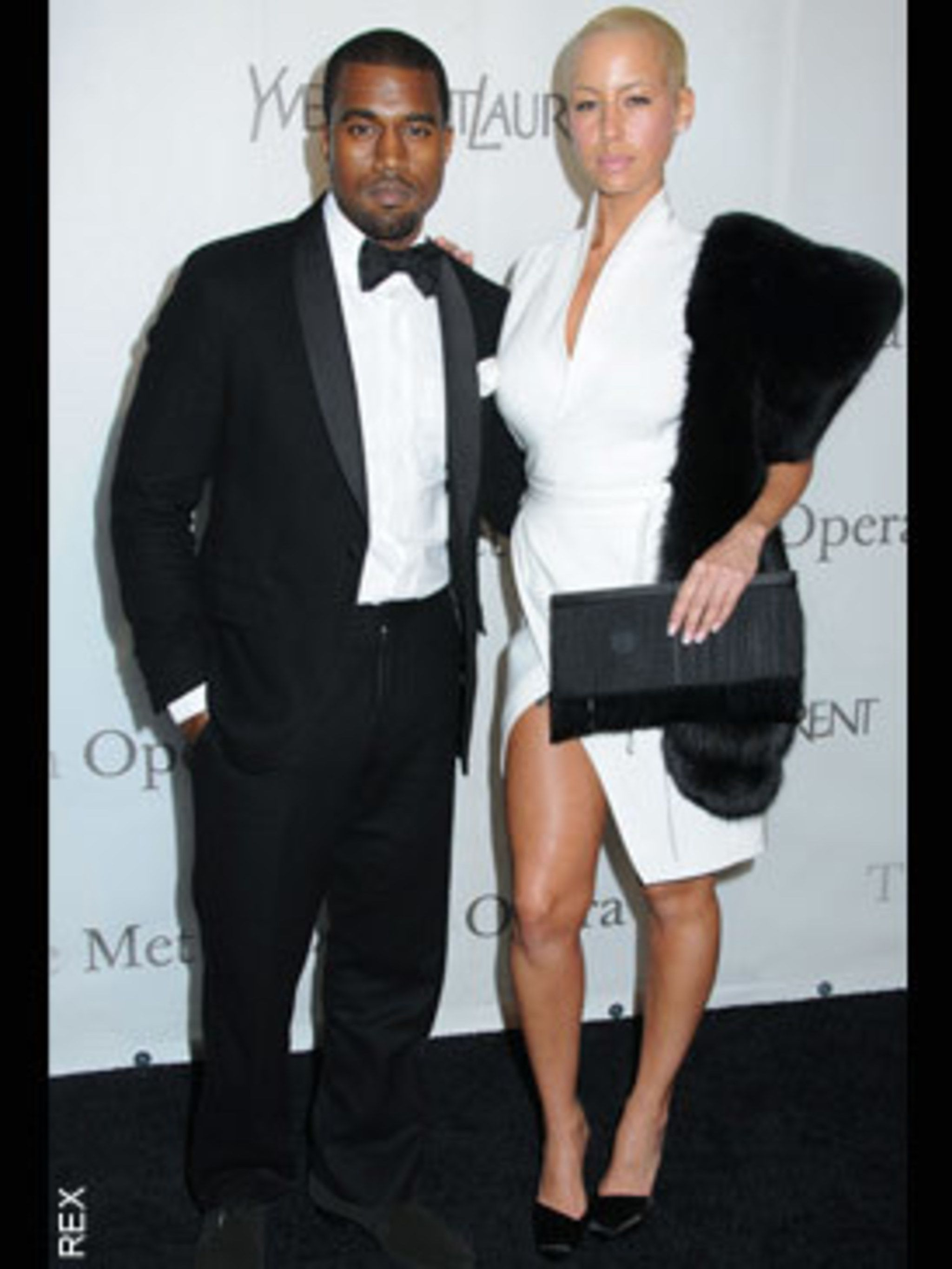 <p>Kayne West and Amber Rose</p>