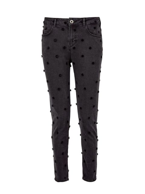"<p>Scotch and Soda Jeans, £150 at <a href=""http://www.veryexclusive.co.uk/maison-scotch-embellished-polka-dot-jeans-black/1600047555.prd"" target=""_blank"">veryexclusive.co.uk</a></p>  <p>Day: add a slouchy <a href=""http://www.veryexclusive.co.uk/t-by-alexa"