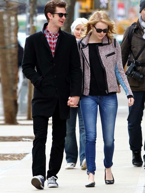 <p>Andrew Garfield and Emma Stone</p>