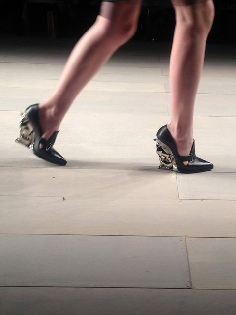 <p>Alain Quilici's greyhound heels for David Koma A/W '12</p>