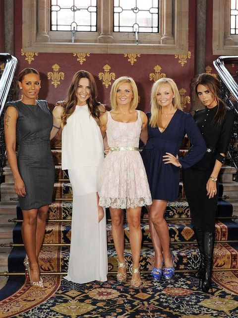 <p>Spice Girls at the Viva Forever launch</p>