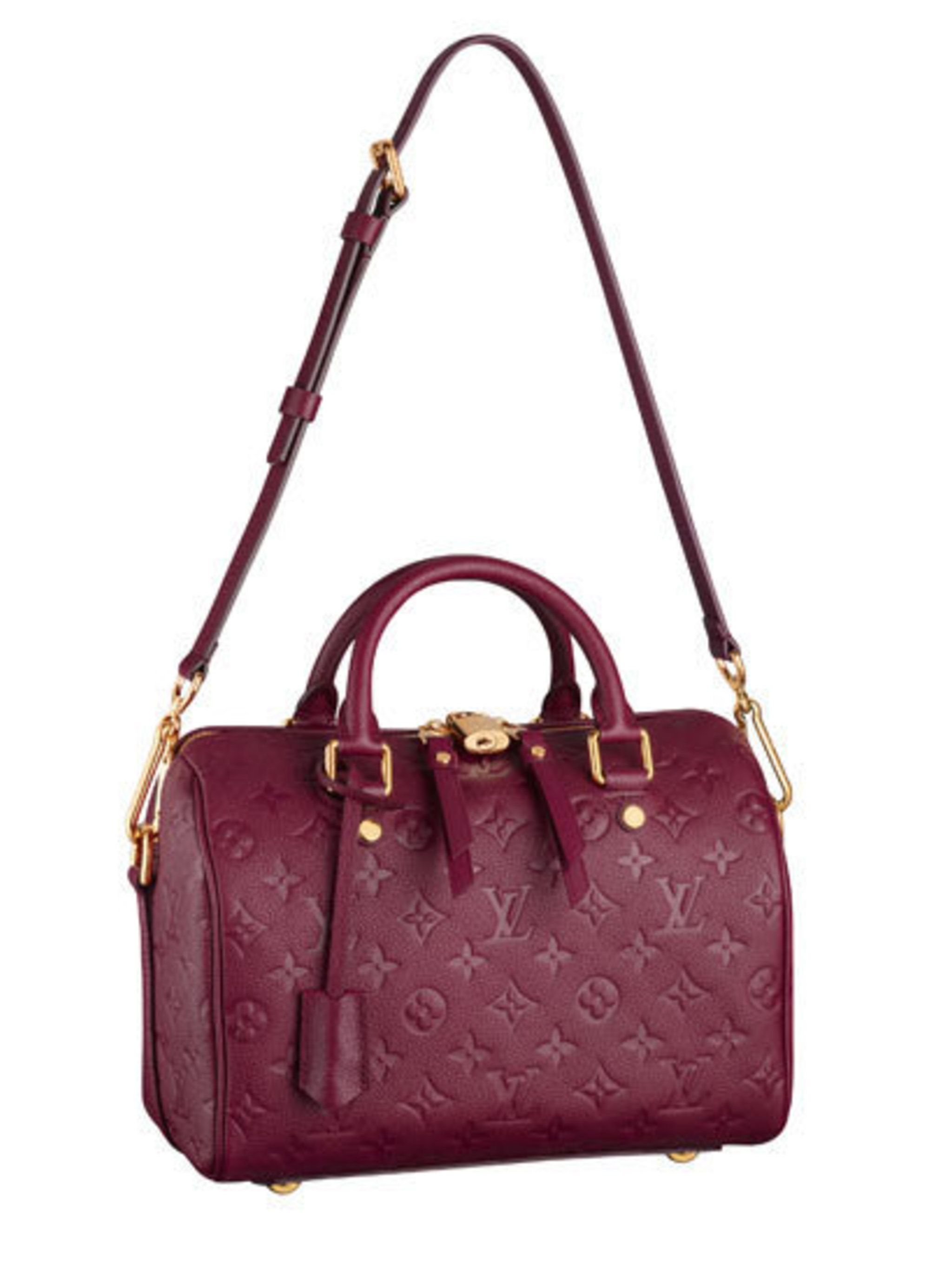 <p>The Speedy 25 Bandouliere in monogrammed leather</p>