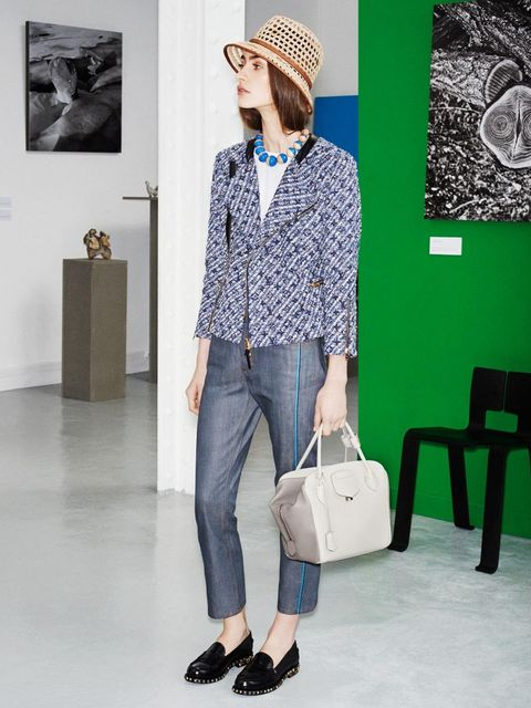<p>The Louis Vuitton Icons Collection s/s 2014, inspired by Charlotte Perriand. Look 7.</p>