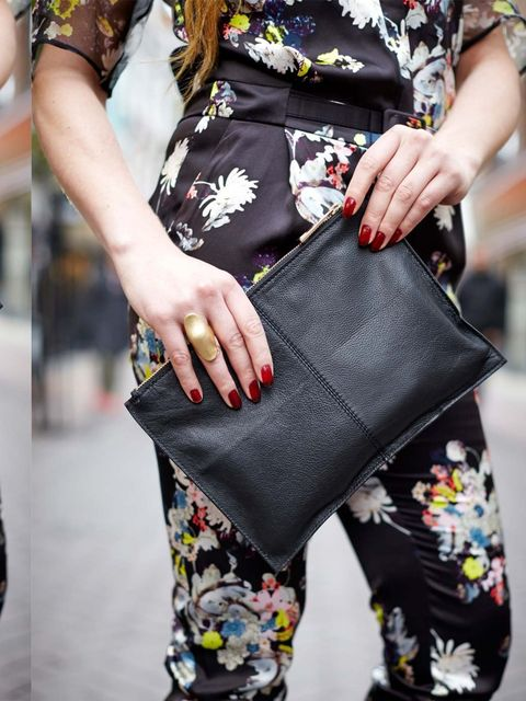 "<p>Miette wears Erdem jumpsuit £1,120 from <a href=""http://www.matchesfashion.com/product/178567"">Matchesfashion.com</a>, Asos clutch, H&amp;M ring </p>"