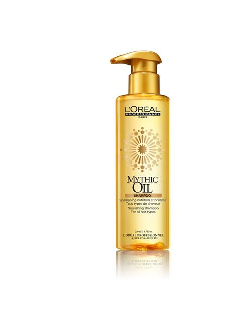 """<p>Gives hair salon-worthy gloss and leaves it smooth and manageable.</p><p><em><a href=""""http://lorealprofessionnel.co.uk/products/haircare/mythic-oil/mythic-oil-shampoo"""">L'Oréal</a> Professionnel Mythic Oil shampoo, £12.50</em></p>"""