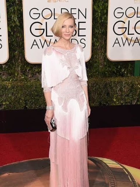<p>Cate Blanchett in Givenchy Couture by Riccardo Tisci: This is nothing short of perfection. The vintage detailing, the antique ivory shade, the exquisite 'Tisci' signature fringing and embroidery. Cate oozes Golden Age Hollywood glamour in this gown.  <