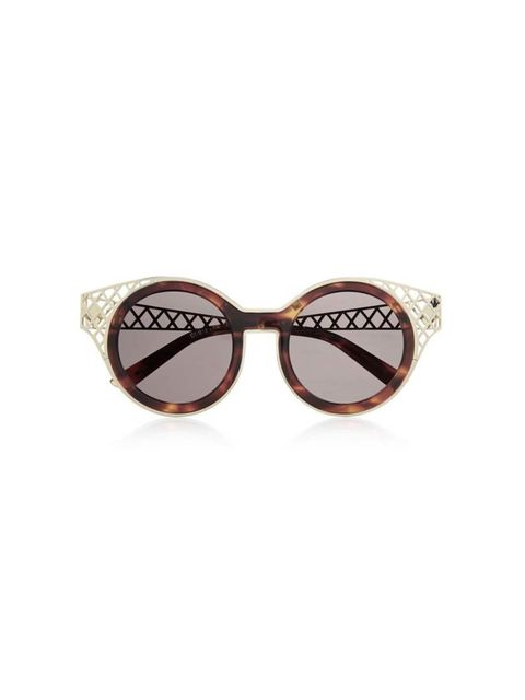 "<p>Wallflowers need not apply. </p><p>House of Holland sunglasses, £180 at <a href=""http://www.net-a-porter.com/product/471255/House_of_Holland/frame-ache-round-frame-metal-trimmed-sunglasses"">Net-A-Porter</a></p>"