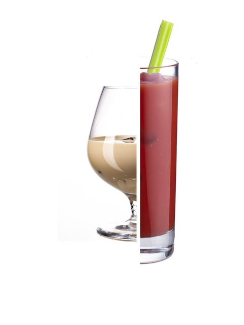 <p><strong>Bailey's Irish Cream vs Bloody Mary</strong></p><p><strong>Bailey's:</strong>  327 calories for 100ml with 13grams of fat</p><p><strong>Bloody Mary:</strong> 125 calories per serving 0.1grams of fat</p><p><strong>Calories saved:</strong> 202</p