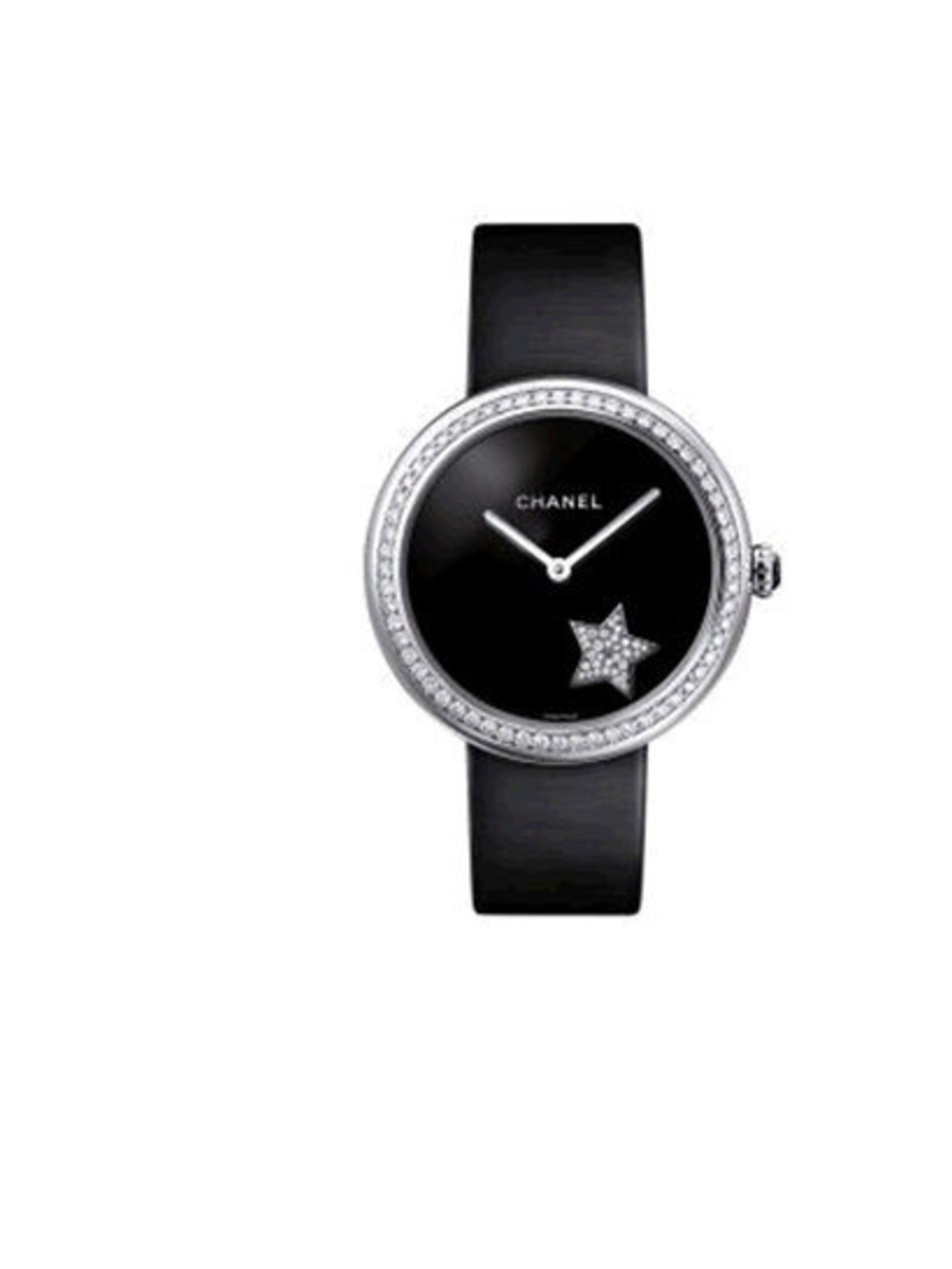 "<p>On the first day of Christmas my true love gave to me, a <a href=""http://www.chanel.com/en_GB/Watches/mademoiselle_prive"">Chanel Mademoiselle Privé</a>. Cased in 18K white gold and twinkling with a total of 171 brilliant cut diamonds, wrists sparkle li"
