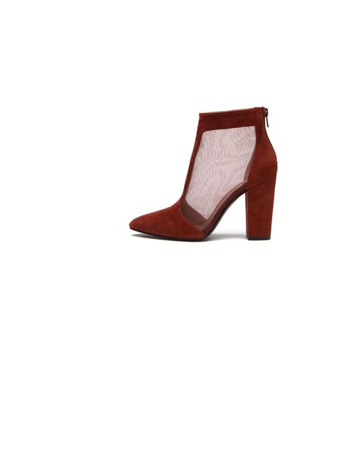 """<p>A boot with sheer panels is a great way to dress for evening. <a href=""""http://www.bimbaylola.com/shoponline/product.php?id_product=8030&id_category=433"""">Bimba and Lola</a> Ankle boots £175 </p>"""