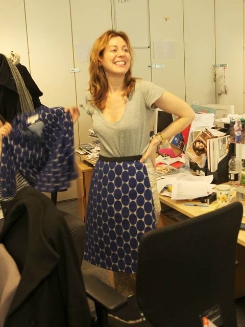 <p>Annabel Brog with her Marni for H&amp;M skirt</p>