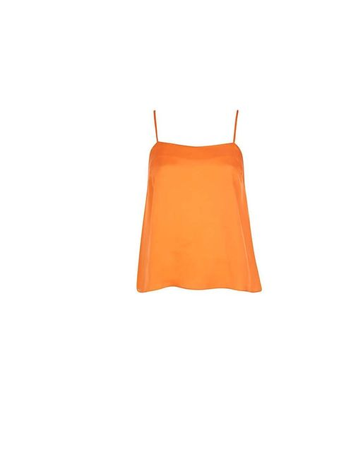 "<p>Senior Beauty Editor Amy Lawrenson will be channelling Sienna Miller's laid back summer style and teaming this orange vest with leather shorts, ankle boots, her new H&M bowler hat and a long pendant necklace.</p><p><a href=""River%20Island%20vest"">River"
