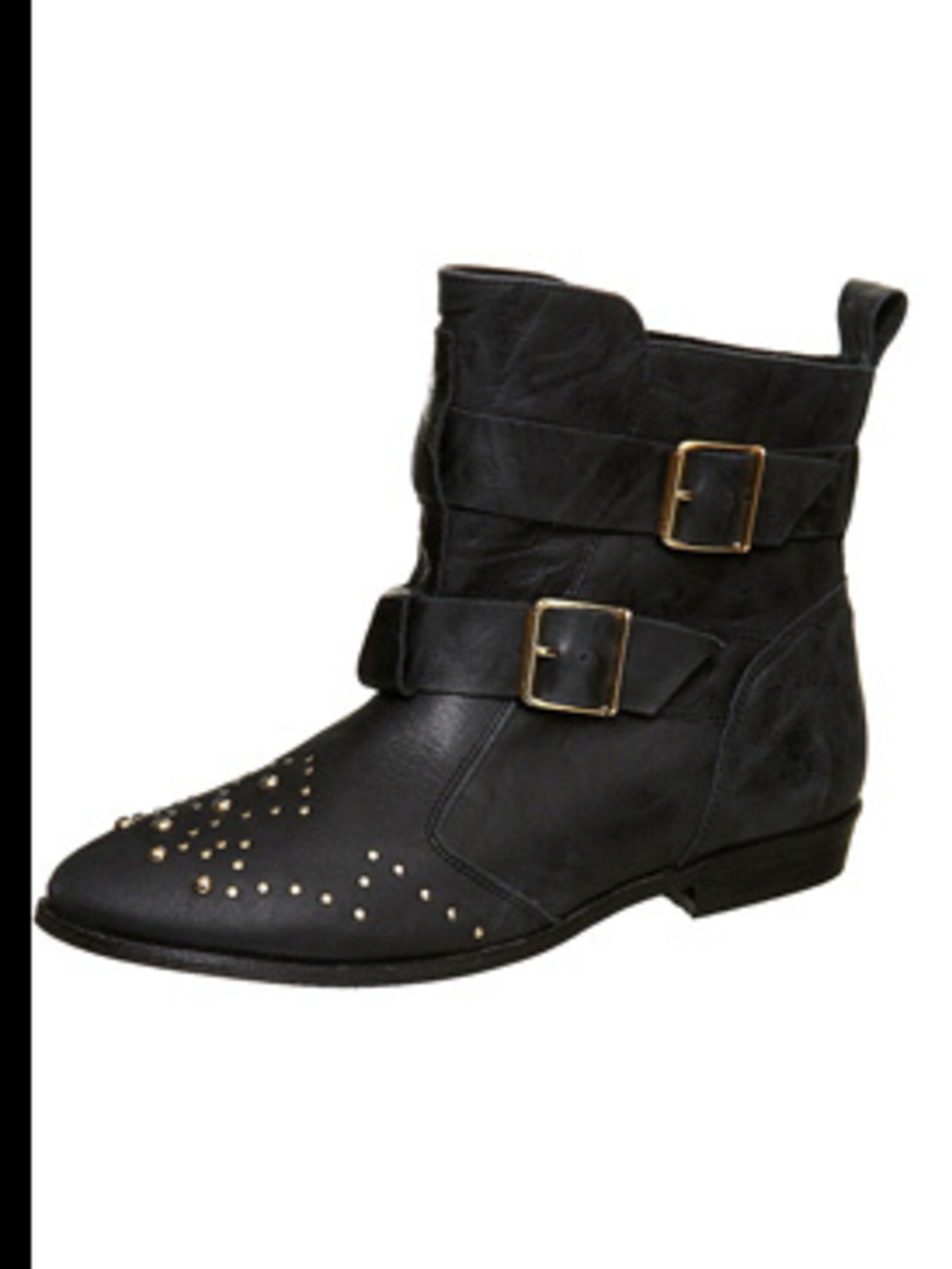 "<p>Black studded boots, £75, by <a href=""http://www.topshop.com/webapp/wcs/stores/servlet/ProductDisplay?beginIndex=0&viewAllFlag=&catalogId=19551&storeId=12556&categoryId=73929&parent_category_rn=42358&productId=1043489&langId"