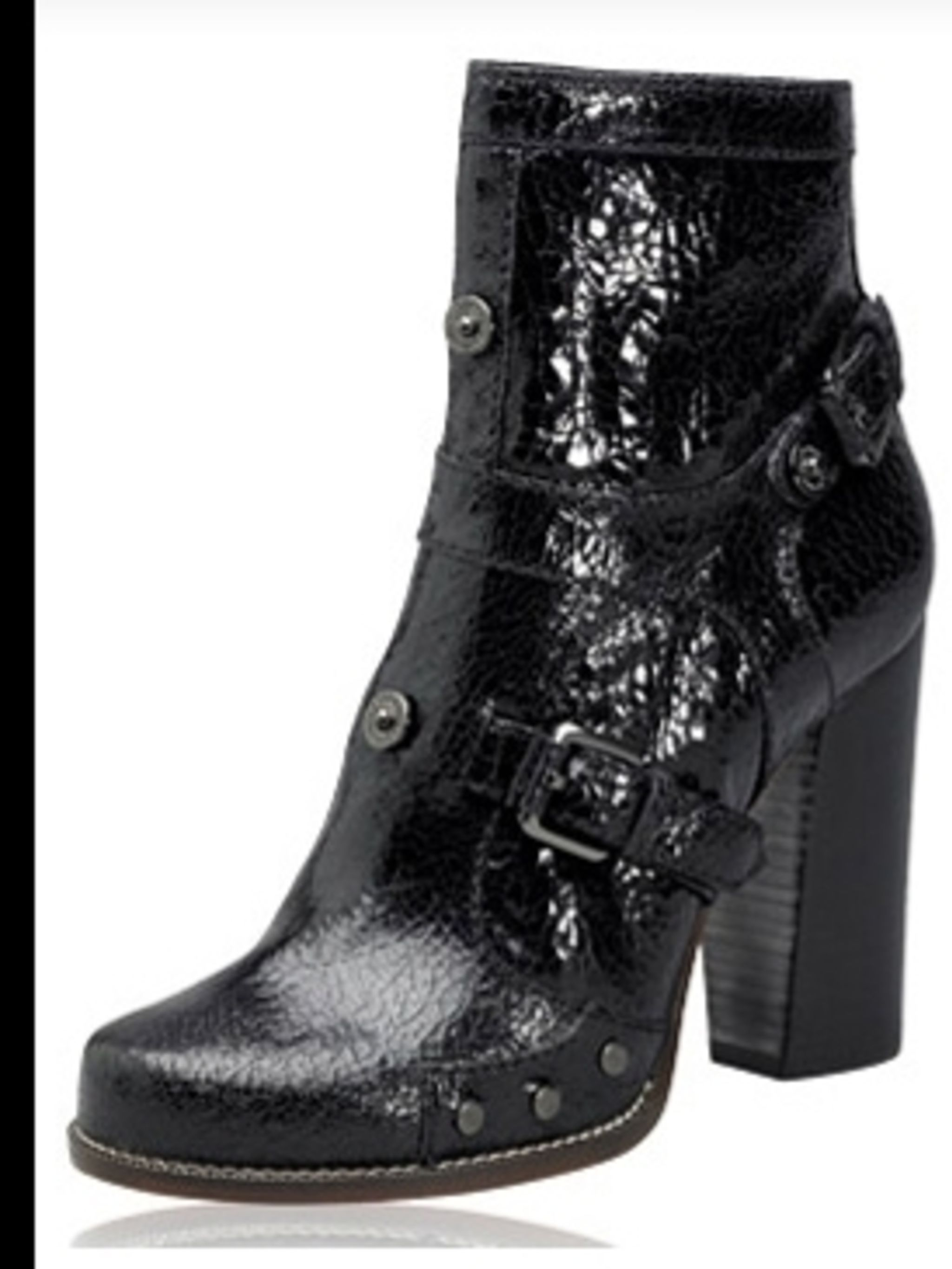 "<p>Black patent ankle boots, £395, by <a href=""http://www.mulberry.com/"">Mulberry</a></p>"