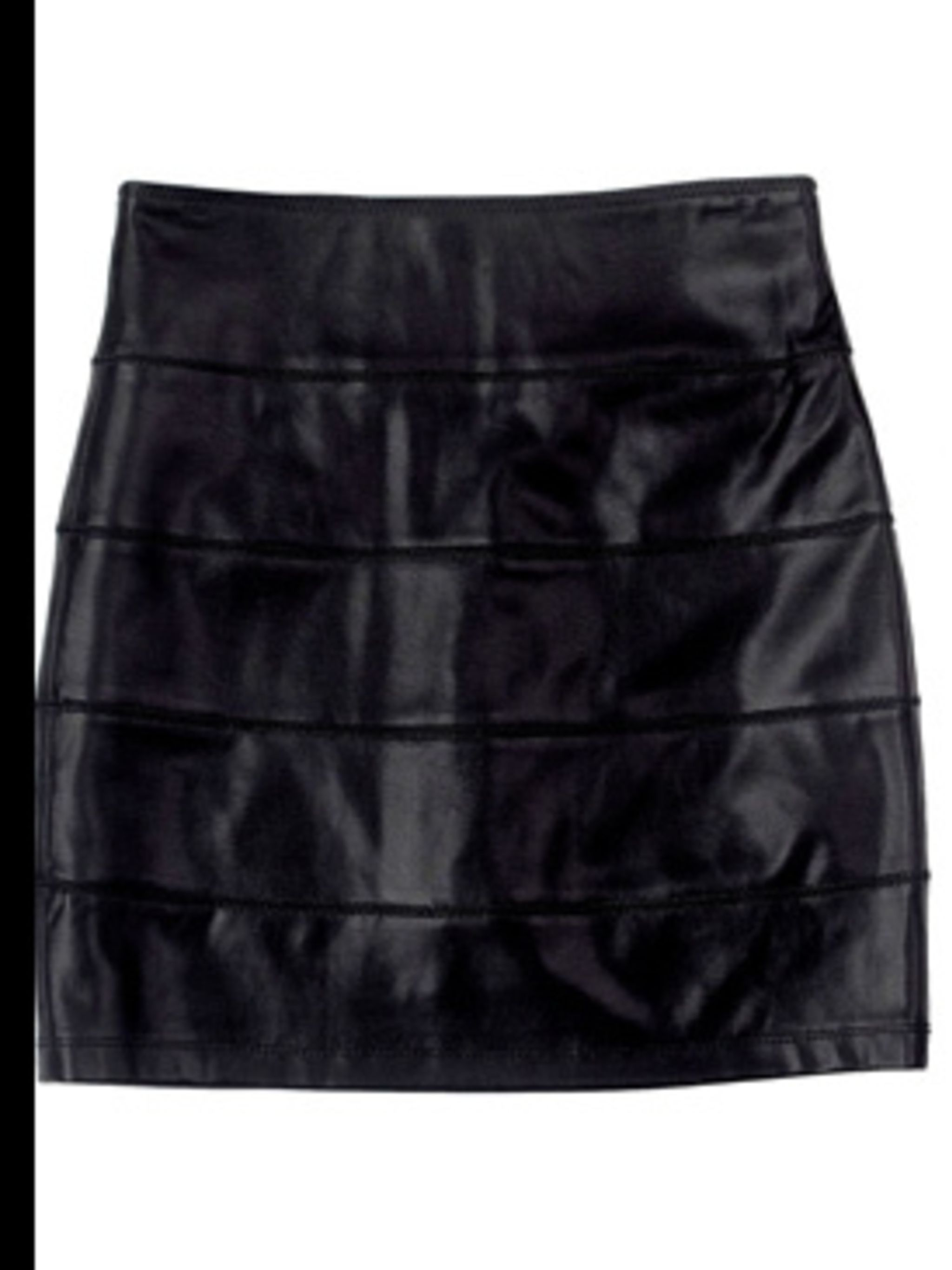 "<p>Skirt, £146.81 by La Rok at <a href=""http://www.bunnyhug.co.uk/fashionshop/gbu0-prodshow/LaRok_Level_2_Faux_Leather_Black_Mini_Skirt.html?source=shopstyle"">BunnyHug</a></p>"