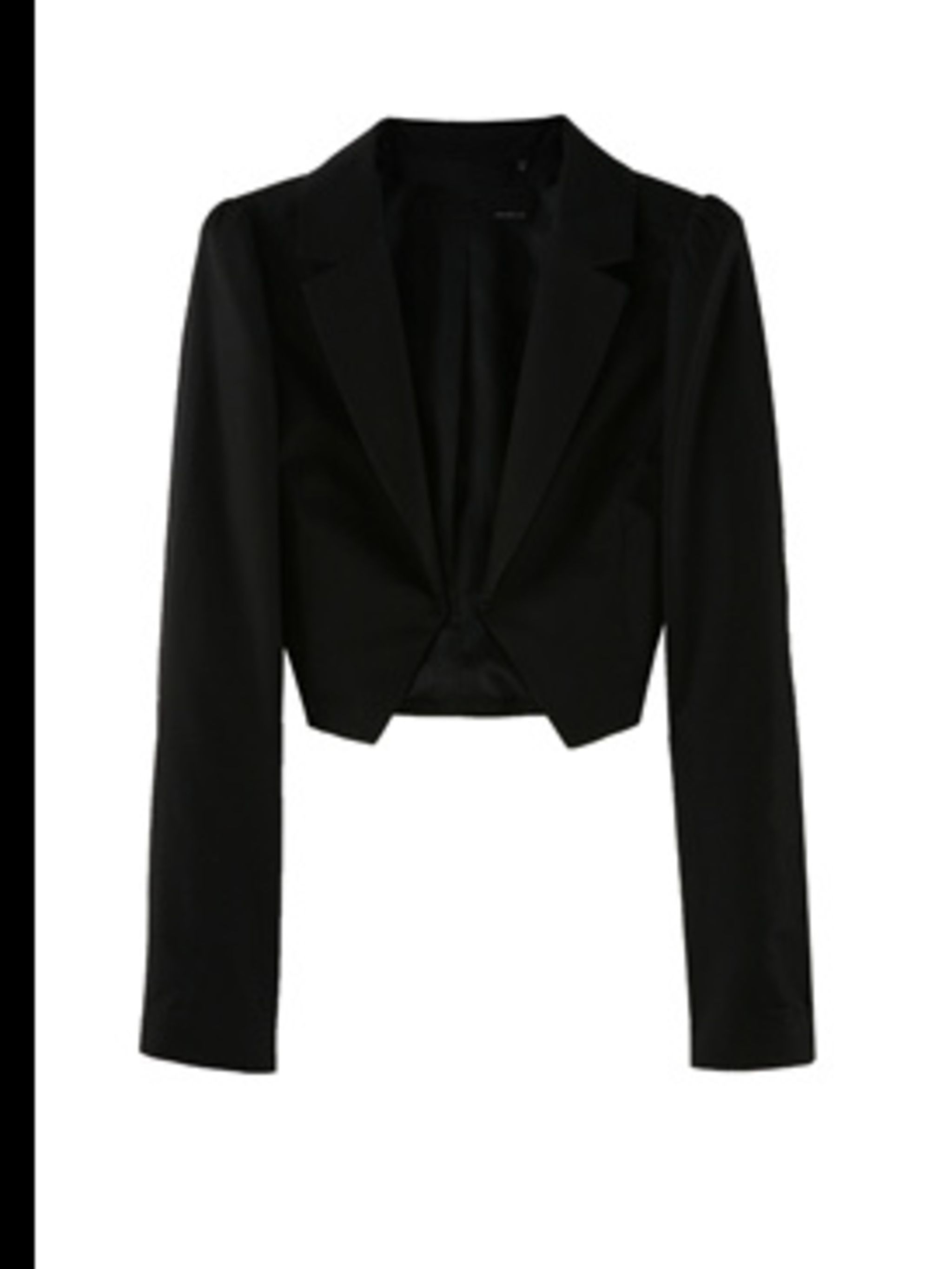 "<p>Cropped tailored jacket, £205, by Armand Basi at <a href=""http://store.drmartens.co.uk/p-3411-darcie.aspx"">My-Wardrobe</a></p>"