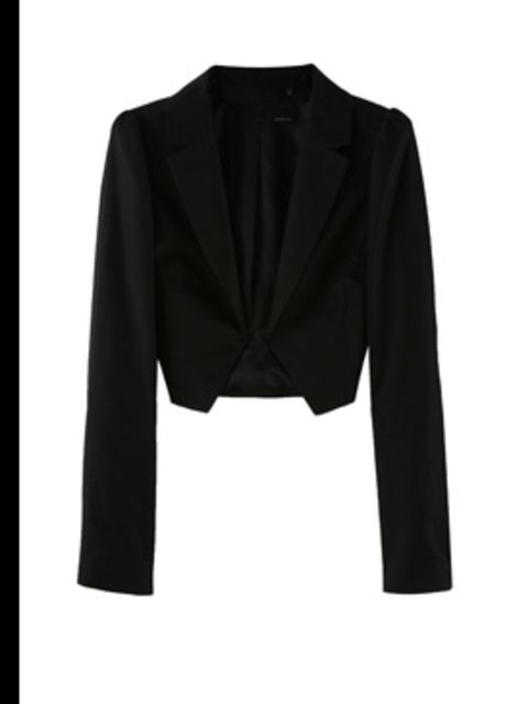 """<p>Cropped tailored jacket, £205, by Armand Basi at <a href=""""http://store.drmartens.co.uk/p-3411-darcie.aspx"""">My-Wardrobe</a></p>"""