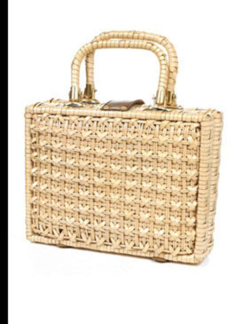 """<p>Straw box bag, £35, by <a href=""""http://www.rokit.co.uk/product.php?product_id=WA100623"""">Rokit</a></p>"""
