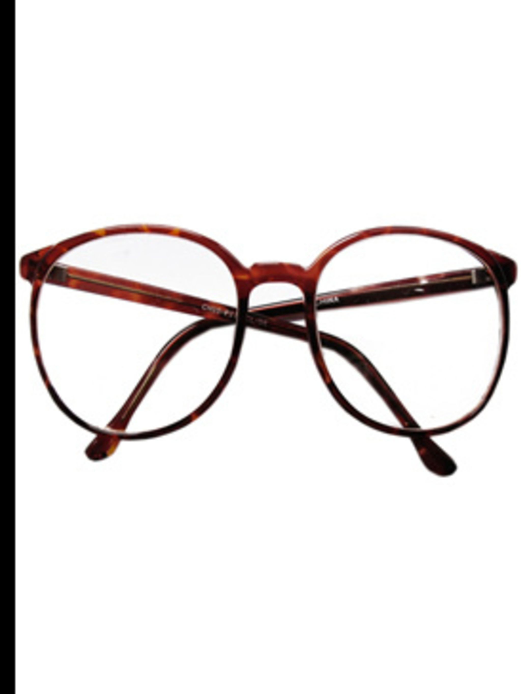 "<p>Tortoise print glasses, £14, by <a href=""http://www.lazyoaf.co.uk/product_info.php?cPath=72_83&products_id=1295"">Lazy Oaf</a></p>"