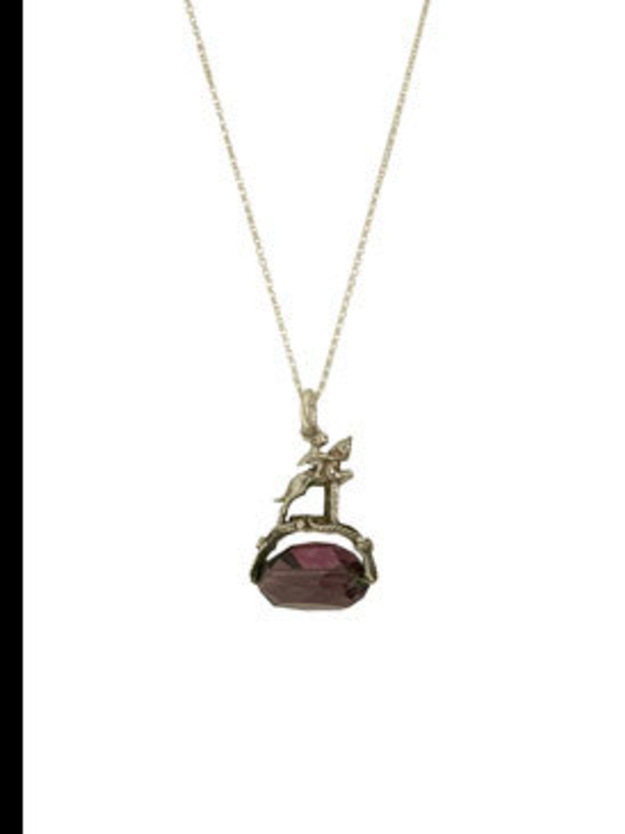 "<p>Amethyst pendant, £74, by Annina Vogel at <a href=""http://www.kabiri.co.uk/jewellery/necklaces/horse_jump_charm_pendant"">Kabiri</a></p>"