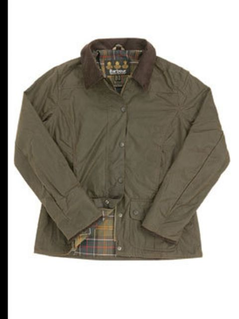 <p>Wax jacket, £169, by Barbour (0800 009 988)</p>