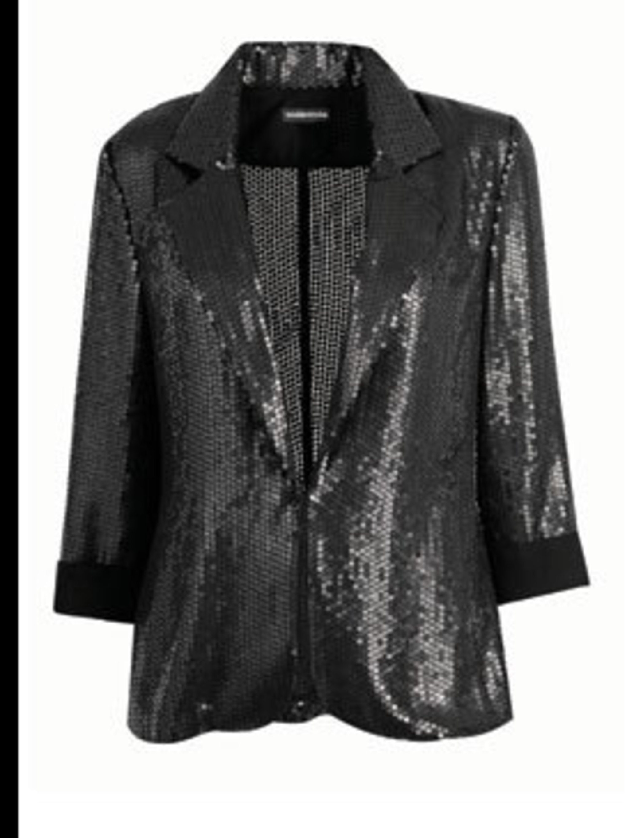 <p>Grey sequin jacket, £80, by Warehouse (0870 1228 813) </p>