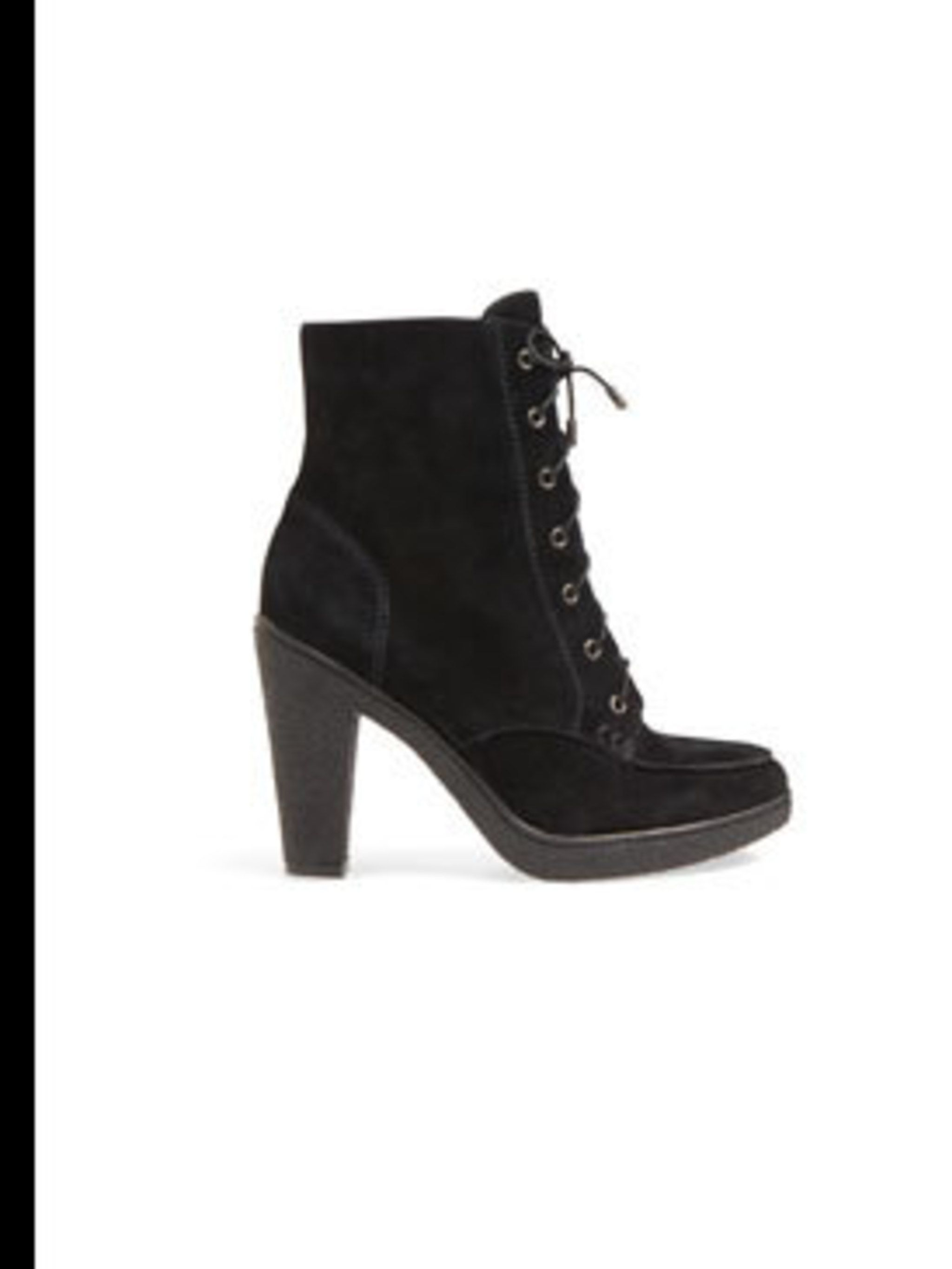 <p>Lace up ankle boots, £140, by Banana Republic (020 7758 3550) </p>