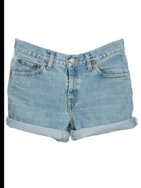 """<p>Vintage denim shorts, £10, by Levi's at <a href=""""http://www.rokit.co.uk/product.php?product_id=WC250181"""">Rokit</a></p>"""