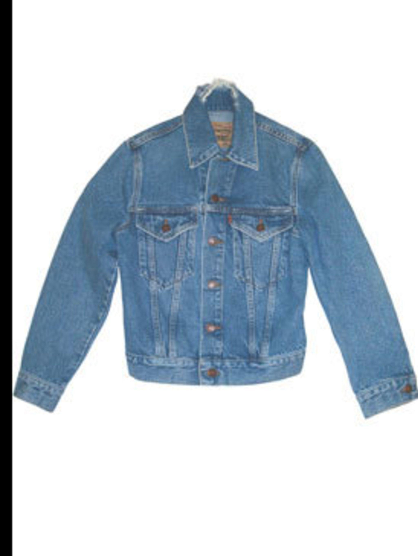 <p>Denim jacket, £130, by Levi's Orange Tab (01604 599 735)</p>