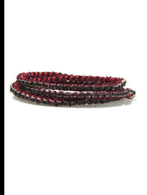 """<p>Red bracelet, £135, by Alyssa Norton at <a href=""""http://www.lagarconne.com/store/item.htm?itemid=4826&sid=703&pid=701"""">La Garconne</a></p>"""