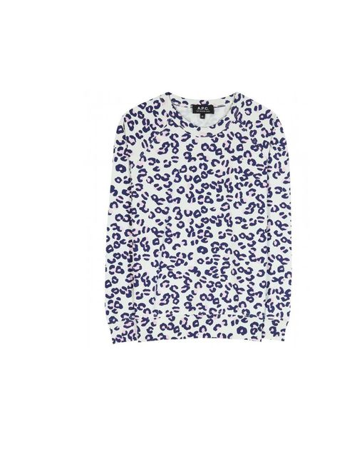 "<p>A.P.C sweatshirt, £90 available at <a href=""http://www.mytheresa.com/en-de/print-jersey-pullover.html"">mytheresa.com</a></p>"