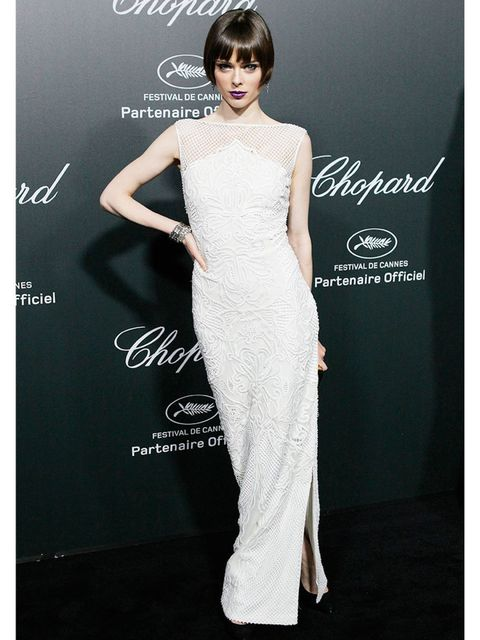 "<p><a href=""http://www.elleuk.com/star-style/celebrity-style-files/coco-rocha"">Coco Rocha</a> wears Gabriela Cadena to the Chopard backstage dinner and after-party.</p>"