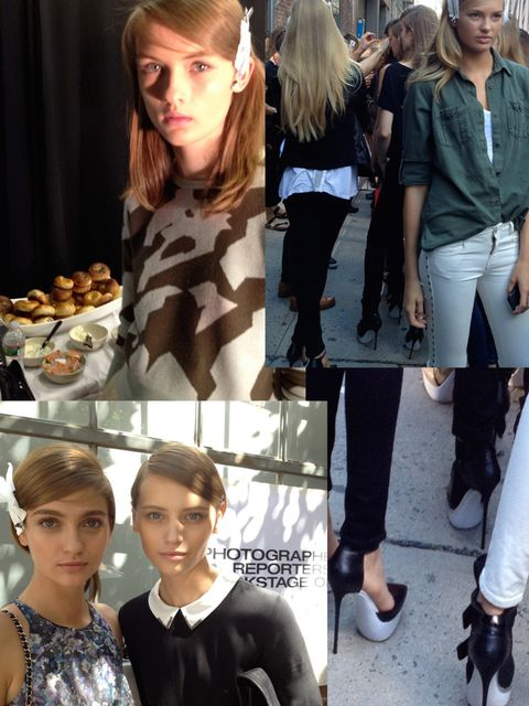 "<p>The Show:?? <a href=""http://www.elleuk.com/elle-tv/catwalk/dkny-spring-summer-2013"">DKNY</a></p><p>The Place:?? New York</p><p>Time:?? 9th September, 10.30am</p><p>The Look: Entering off the street for the show, the vibe is already laid back and calm,"